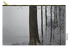 Carry-all Pouch featuring the photograph Steep And Frost by Felicia Tica