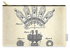 1880 Steinway Screw Clamp Patent Art Carry-all Pouch