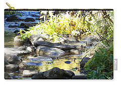 Carry-all Pouch featuring the photograph Stepping Stones by Sheri Keith