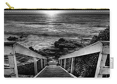 Steps To The Sun  Black And White Carry-all Pouch