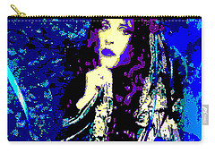Stevie Nicks In Blue Carry-all Pouch by Alys Caviness-Gober