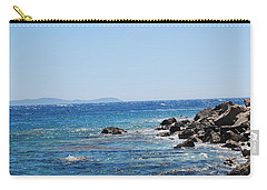 Carry-all Pouch featuring the photograph Stiff Breeze by George Katechis