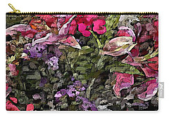 Carry-all Pouch featuring the digital art Still Life Floral by David Lane
