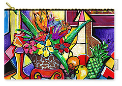 Still Life Fruit And Floral Carry-all Pouch