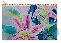 Still Life Lilies Carry-all Pouch by Geeta Biswas