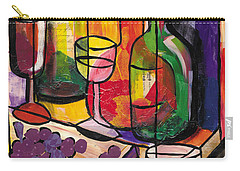 Still Life Of Fruit Wine And Cheese Carry-all Pouch
