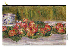 Still Life Of Strawberries And A Tea Cup Carry-all Pouch by Pierre Auguste Renoir