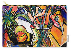 Still Life With Fruit And Calla Lilies Carry-all Pouch