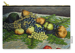 Still Life With Pears And Grapes Carry-all Pouch