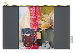 Still Life With Red Cloth And Pottery Carry-all Pouch