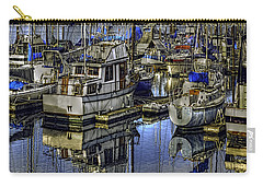Carry-all Pouch featuring the photograph Still Water Masts by Jean OKeeffe Macro Abundance Art