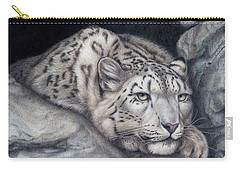 Carry-all Pouch featuring the painting Stillnes Like A Stone by Pat Erickson