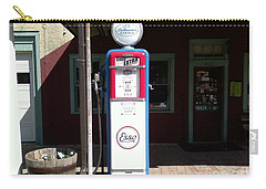 Old Stillwater Garage And General Store  New Jersey And Esso Gas Pump Carry-all Pouch by Carol Wisniewski