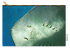 Carry-all Pouch featuring the photograph Stingray Face by Eti Reid