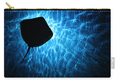 Stingray Silhouette Carry-all Pouch by Donna Corless