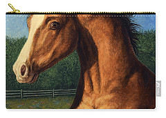 Carry-all Pouch featuring the painting Stir Crazy by James W Johnson