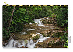 Carry-all Pouch featuring the photograph Stockbridge Falls by Dave Files