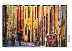 Stockholm Gamla Stan Painting Carry-all Pouch