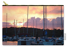 Carry-all Pouch featuring the photograph Stockton Sunset by Deena Stoddard