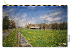 Stone Barn On A Spring Morning Carry-all Pouch by Lois Bryan