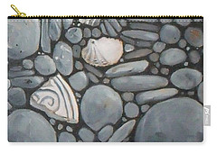 Stone Beach Keepsake Rocky Beach Shells And Stones Carry-all Pouch by Mary Hubley