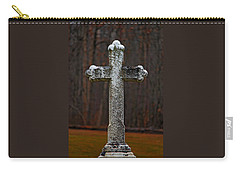 Carry-all Pouch featuring the photograph Stone Cross by Rowana Ray