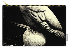 Stone Crow On Stone Ball Carry-all Pouch