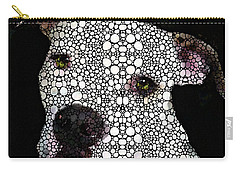 Carry-all Pouch featuring the painting Stone Rock'd Dog By Sharon Cummings by Sharon Cummings