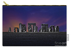 Carry-all Pouch featuring the photograph Stonehenge Looking Moody by Terri Waters