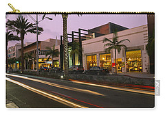 Stores On The Roadside, Rodeo Drive Carry-all Pouch by Panoramic Images