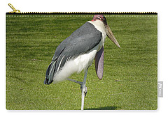 Carry-all Pouch featuring the photograph Stork by Charles Beeler