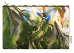 Carry-all Pouch featuring the digital art Stork In The Music Garden by Richard Thomas