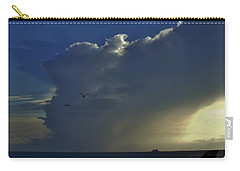 Storm Across Delaware Bay Carry-all Pouch by Ed Sweeney