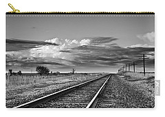 Storm Cloud Above Rail Road Tracks Carry-all Pouch