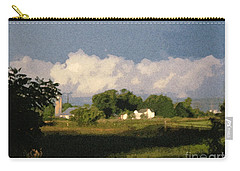 Storm Clouds Over Michigan Farm At Sunrise Carry-all Pouch