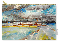 Storm Coming At Austinmer Beach Carry-all Pouch