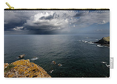 A Mediterranean Sea View From Sa Mesquida In Minorca Island - Storm Is Coming To Island Shore Carry-all Pouch