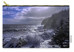 Carry-all Pouch featuring the photograph Storm Lifting At Gulliver's Hole by Marty Saccone