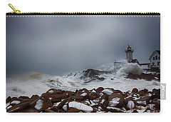 Storm Off Eastern Point Lighthouse Carry-all Pouch