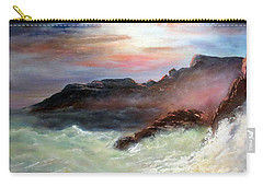 Carry-all Pouch featuring the painting Storm On Mount Desert Island by Lee Piper