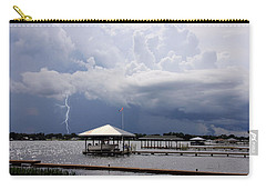 Storm Over Clay Lake Carry-all Pouch by Rosalie Scanlon