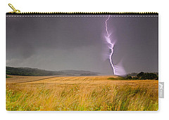 Storm Over The Wheat Fields Carry-all Pouch by Eti Reid