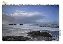 Storm Rolling In Wickaninnish Beach Carry-all Pouch by Roxy Hurtubise
