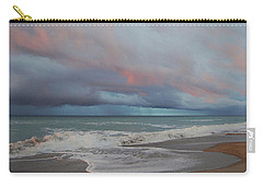 Carry-all Pouch featuring the painting Storms Comin' by Mim White