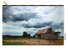 Storms Loom Over Barn On The Prairie Carry-all Pouch