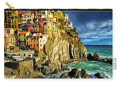 Stormy Day In Manarola - Cinque Terre Carry-all Pouch