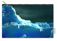 Carry-all Pouch featuring the photograph Stormy Icebergs by Amanda Stadther