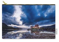 Stormy Skies Over Eilean Donan Castle Carry-all Pouch