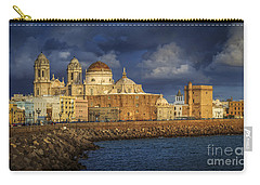 Stormy Skies Over The Cathedral Cadiz Spain Carry-all Pouch
