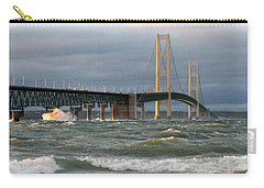 Stormy Straits Of Mackinac Carry-all Pouch